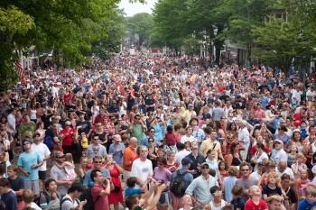Crowds on Main Street