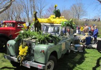 AckFrica Safari themed car at the Daffodil-Festival