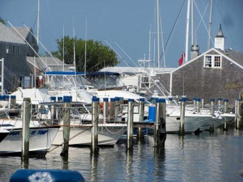 Boats at the dock Nantucket Boat Basin