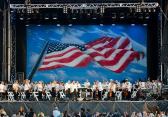 The Boston Pops on stage Photo by Lisa Frey