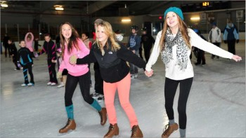Girls Skating at Nantucket Ice
