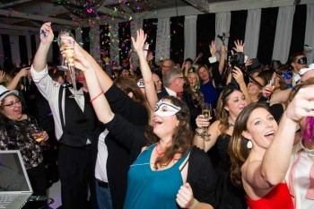 Crowd toastin to New Years Celebration