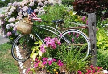 Bike and Flowers on Nantucket