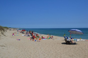 Sunbathers at Surside Beach Nantucket