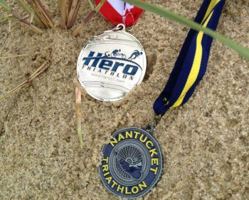 Two Medals from the Nantucket Triathalon